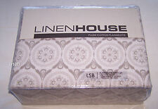 Linen House Mabel Taupe Single Bed Plush Cotton Flannelette Fitted Sheet Set New
