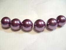 BNAPL01b Purple: 14 x 16mm Acrylic Pearl Beads