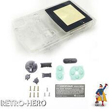 Gameboy Color Gehäuse Display Game Boy Batterie Deckel Tasten Case Shell Clear