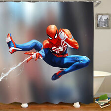 3D Shower Curtain Art Bathroom Decor Spiderman Full Printed Design Curtains