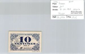 Ticket France - Lille Nord - 10 C - Series D - 31.10.1917 - Pirot 59.1632