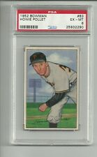1952 Bowman Original Baseball #83 Pollet PSA