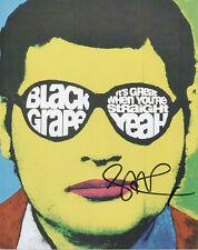 SHAUN RYDER Signed 10x8 Photo BLACK GRAPE COA