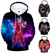 Sudadera de hombre mujer 3D Anime Dragon Ball Son Goku Chaqueta Abrigo Suéter Sudadera Con Capucha