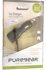 puregear car charger with USB port for iphone 4