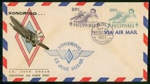 Mayfairstamps PHILIPPINE ISLANDS FDC 1955 COVER LT JOSE GOZAR COMBO wwi84481