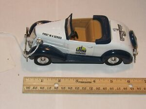 1994 Chicago Auto Show 1937 Chevy Convertible Toy Bank w/ Key! Diecast!  NICE