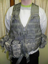Excellent ACU Digital Camo Molle II Fighting Load Vest Carrier Pouches Military