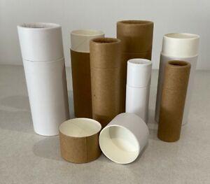 Zero Waste Compostable Cardboard Push Up Tube Various Sizes-White or Kraft