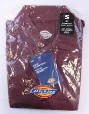 Dickies Kid's Unisex Short Sleeve Pique Polo Shirt Burgundy CB8 Small (8) NWT