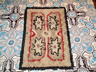 ANTIQUE AMERICAN HAND KNOTTED RAG RUG CIRCA 1920