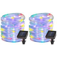 2 Pack 39ft 100 LED Solar Power Rope Lights,Waterproof String Lights- Multicolor