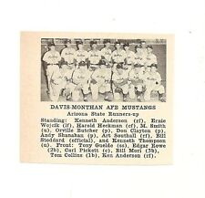 Davis-Monthan Afb Mustangs Arizona 1953 Baseball Team Picture