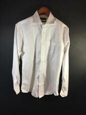 Joseph Abboud White with Orange Stripe Buttondown Dress Shirt Size 15 34/35