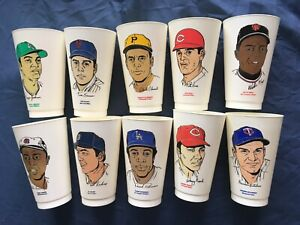 1972 MLB SLURPEE CUPS COMPLETE SET 1-60 NO CRACKS