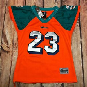 NFL Reebok Miami Dolphins Jeweled Jersey Women Size M Ronnie Brown #23 NEW RARE