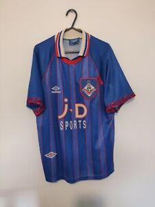 OLDHAM ATHLETIC HOME FOOTBALL SHIRT MENS MEDIUM 1993 1995 UMBRO BLUE
