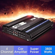 4 CANALI AUTO AMPLIFICATORE 3800 WATT RMS SUBWOOFER AMP STEREO 4 SPEAKERS