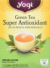 YOGI GREEN TEA SUPER ANTIOXIDANT (16 bags x 6 boxes) Helps Reduce Free Radicals