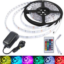 5M RGB SMD 5050 Led Light Strip Lamp Waterproof Remote Controller +12V Power Kit