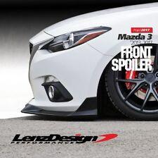Mazda 3 2013 2014 2015 2016 body kit Front lip spoiler Lenzdesign Performance