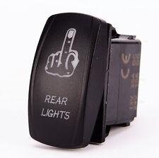 Car Truck UTV Boat Toggle Rocker Switch Blue LED FINGER REAR Light Lamp 12V 20A