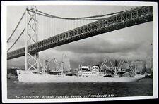 SAN FRANCISCO CA~1915 SHIP M/S MOLDANGER~OAKLAND BRIDGE~INTEROCEAN LINE~ RPPC