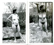 2 VINTAGE  RISQUE OUTDOOR AMATEUR PHOTOS NUDE  in WOODS
