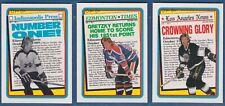 Lot of 3 WAYNE GRETZKY Headlines Cards | 1990-91 O-Pee-Chee OPC #1-3