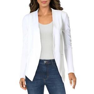 BCBGeneration Womens Crepe Open Front Welt Pocket Tuxedo Blazer Jacket BHFO 5744