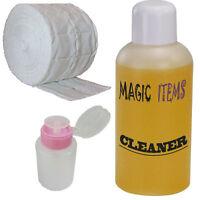 Spar Set 1000 ml Nagel Cleaner Entfetter + Dispenser + 500 Zelletten orange