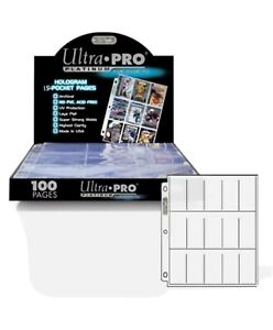 15 ULTRA PRO PLATINUM 15 POCKET Tobacco Card Pages 1.5x3.25 Sheets Protectors