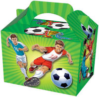 20 Football Party Boxes - Food Loot Lunch Cardboard Gift Kids