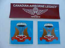 CANADIAN AIRBORNE LEGACY/CANADIAN AIRBORNE REGIMENT DECAL SET
