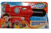 "Super Soaker 14"" Action Water Gun Pistol Outdoor Beach Garden Toy Blaster In Red"
