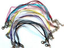 Organza Ribbon & Cotton Bracelet Cords Pk of 5 - Choice of colour
