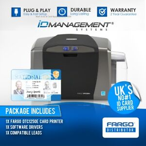 Fargo DTC1250e Single Sided ID Card Printer • 5000+ Sold • Ships Worldwide