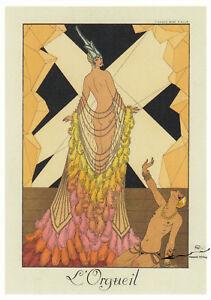 Postkarte: George Barbier - Der Hochmut  /  1924