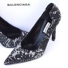 BALENCIAGA New sz 39 - 8.5 Auth Designer Womens Pumps Heels Shoes black $1335