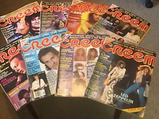 Lot of 8 Creem Magazines From 1970's And Early 80's.