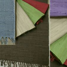 Der modische UNI Fleckerl Handwebteppich  Flicken Teppich viele Farben + Größen