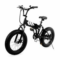 "Swagtron EB-8 Electric Bike Fat Tire Foldable Off-Road 20"" Wheels w/Power Assist"