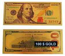 NUEVO BILLETE 100 DOLLAR ORO PLACADO / 99,9 % PURE GOLD 24K