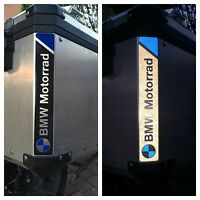 RIFRANGENTI REFLECTIVE BMW MOTORRAD STICKERS ADESIVI LOGO BLUE The1200stickerS