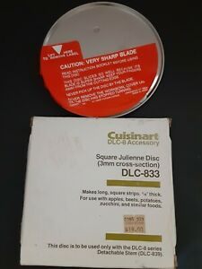 Cuisinart DLC-833 Genuine Food Processor Replacement Blade New in Box