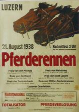 Original Plakat - Pferderennen Luzern