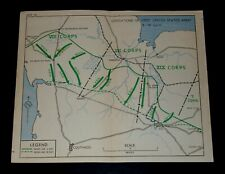 WW2 D-Day Invasion Map of OPERATIONS OF FIRST US ARMY 3-18 JULY 1944