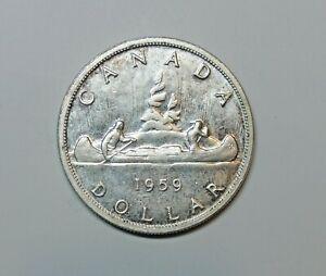 CANADA : SILVER DOLLAR 1959. 0.800 SILVER