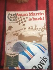 Aston Martin Is Back 25 Years Original Factory Poster