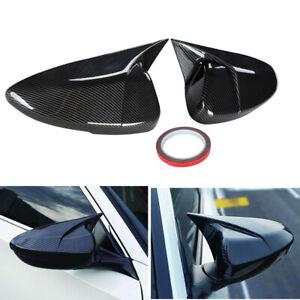 1Pair Carbon Fiber Look Car Mirror Cover Cap Fit Honda Accord 2018-2019